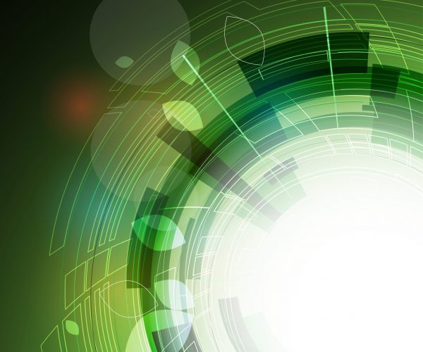 Green circle background